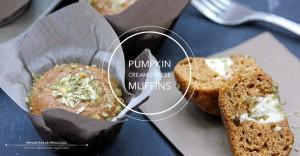 Pumpkin Cream Cheese Muffins | @mamamissblog #pumpkin #muffinlove #brunch