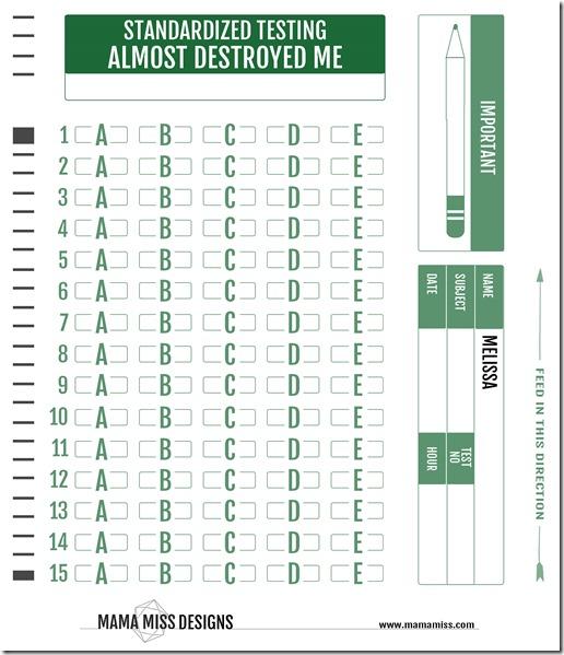 Standardized Testing Almost Destroyed Me | @mamamissblog #visuallearner #playmatters #kindergarten