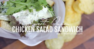 Sweet Onion Chicken Salad Sandwich | @mamamissblog #quickandhealthy #sandwichlove #chickensalad
