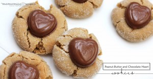 sweets: Peanut-Butter and Chocolate Heart Cookies