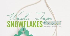 Washi Tape Snowflakes | @mamamissblog #snowflakes #washitape #easykidcraft #wintercraft