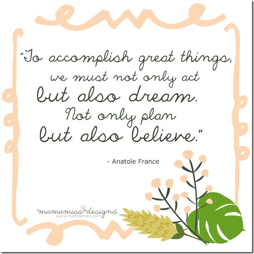 Anatole France - planning quote   @mamamissblog #quotelove #quoteme #planning #freeprintable