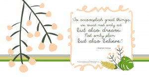 Anatole France - planning quote | @mamamissblog #quotelove #quoteme #planning #freeprintable