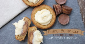 sweets: Peanut Butter Cup Cookie Cups