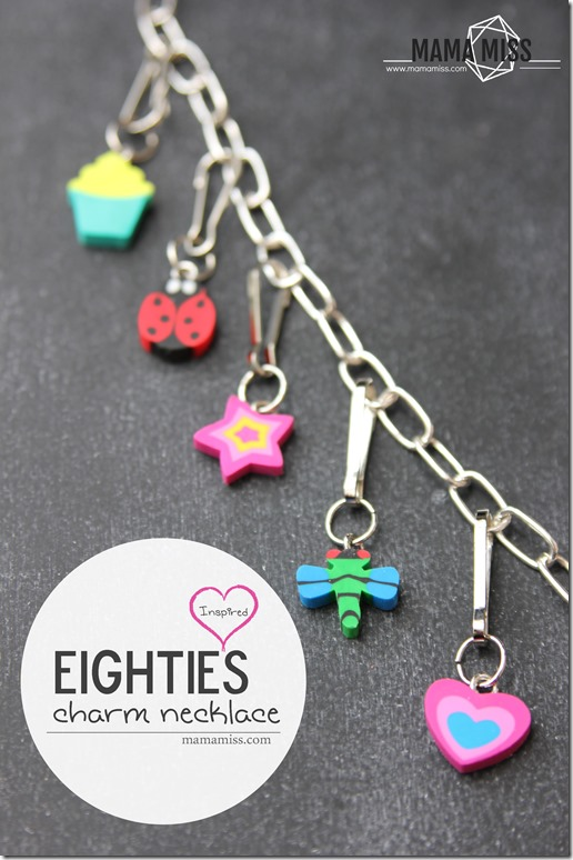Do you remember?!  DIY Inspired: Eighties Charm Necklace | @mamamissblog #eightiesstyle #retro #eightiesfashion