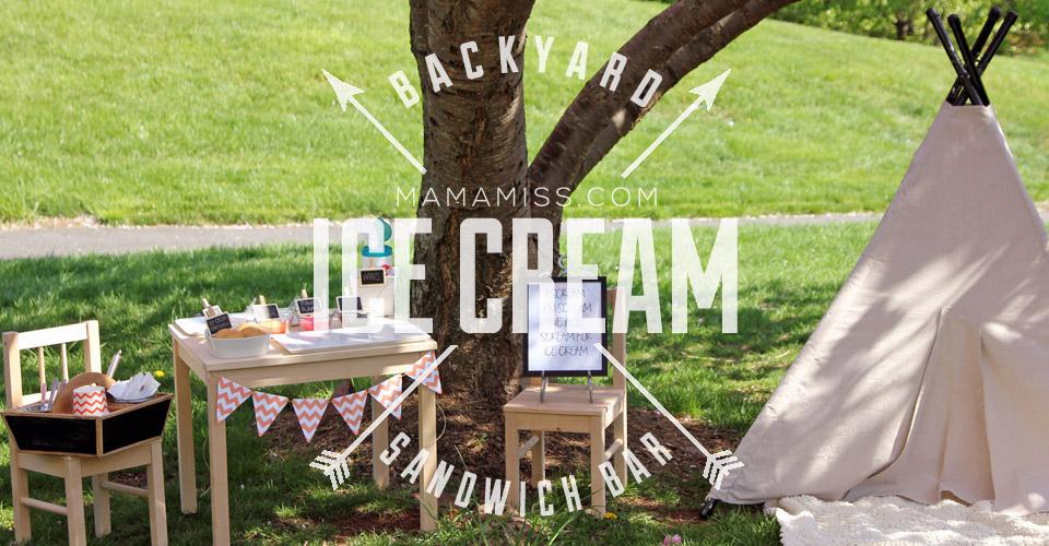 Ice Cream Sandwich Bar | @mamamissblog #icecream #bar #letterI #kidparty