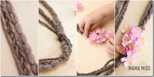 Peach Blossom Necklace | @mamamissblog #peachblossom #diy #‎bookingusa‬ #bookandcraft
