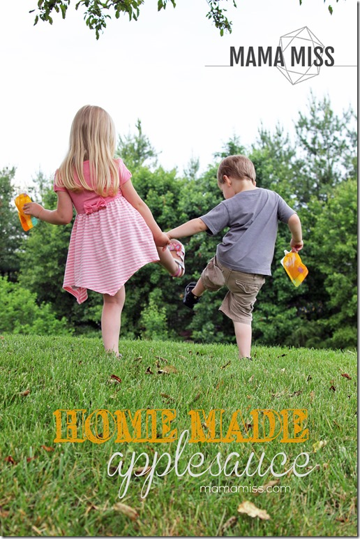 Homemade Applesauce | @mamamissblog @ReSqueeze #natural #homemade #sugarfree #apples
