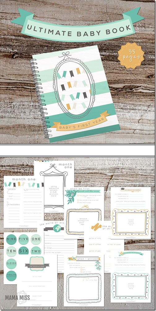 Ultimate Baby Book   @mamamissblog #babybook #planner #babysfirsts