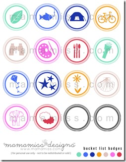 Summer Bucket List - Badges   @mamamissblog #bucketlist #meritbadges #summer