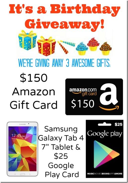 BLOGIVERSARY | @mamamissblog #giveaway #blogiversary #amazon #google