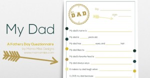 fathers day: My Dad – A Fathers Day Questionnaire