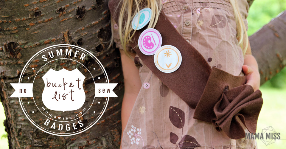 Summer Bucket List - Badges | @mamamissblog #bucketlist #meritbadges #summer