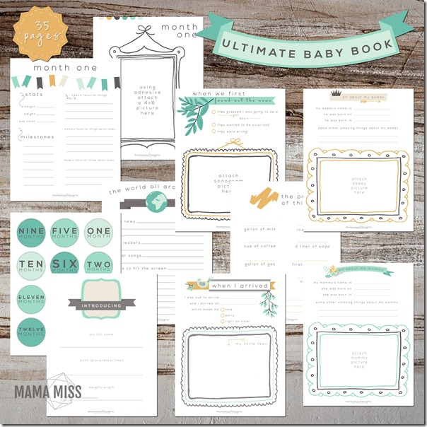 graphic relating to Free Printable Baby Book Pages identify Greatest Boy or girl E book