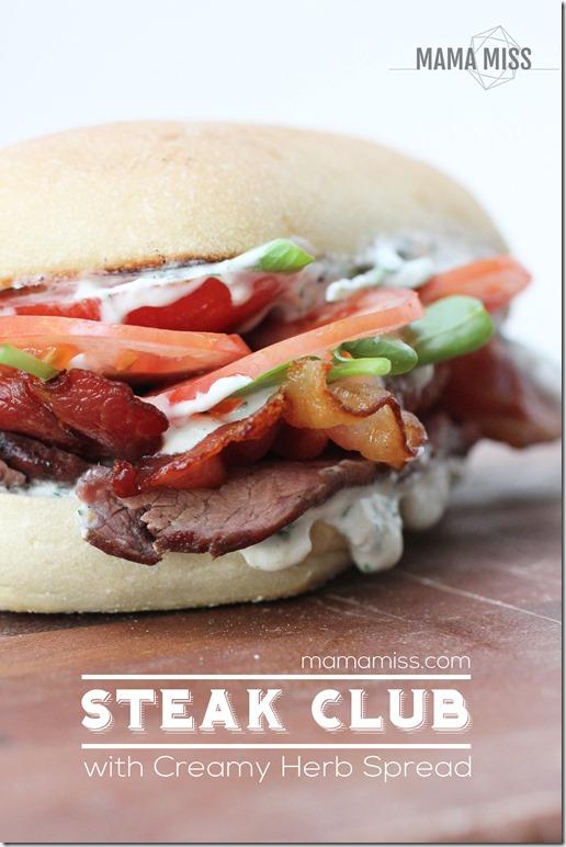 Steak Club Sandwich | @mamamissblog #steak #sandwichlove #dinnertonight