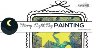 backyard summer camp: Starry Night Sky Painting