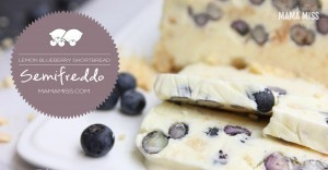 Lemon Blueberry Shortbread Semifreddo | @mamamissb