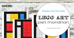 art and learning: Piet Mondrian LEGO art