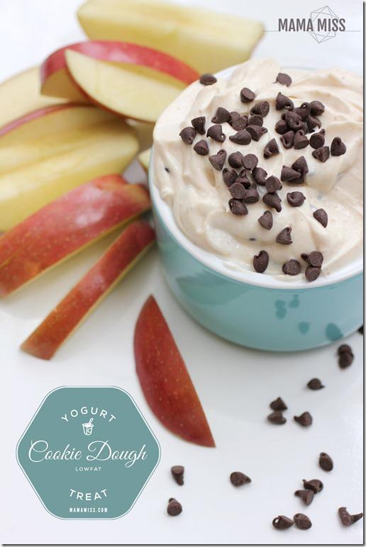 Cookie Dough Yogurt   @mamamissblog #cookiedough #sweettreats  #healthysnack