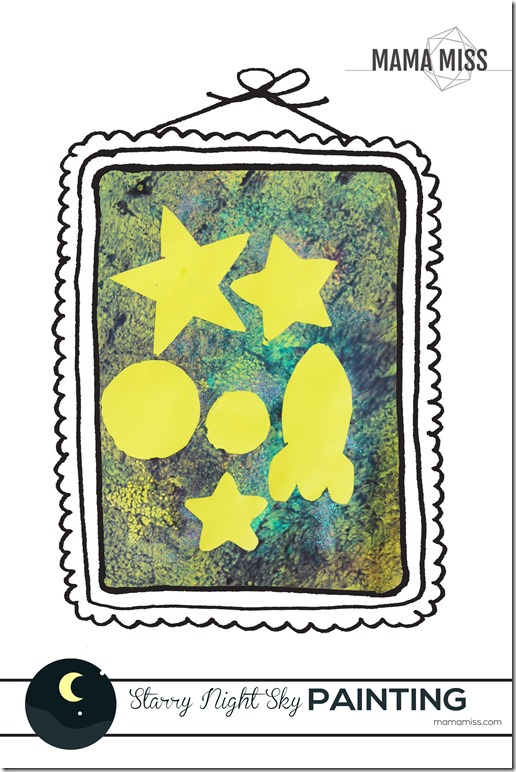 Starry Night Sky Painting | @mamamissblog #BackyardSummerCamp #adventure #learning #fun