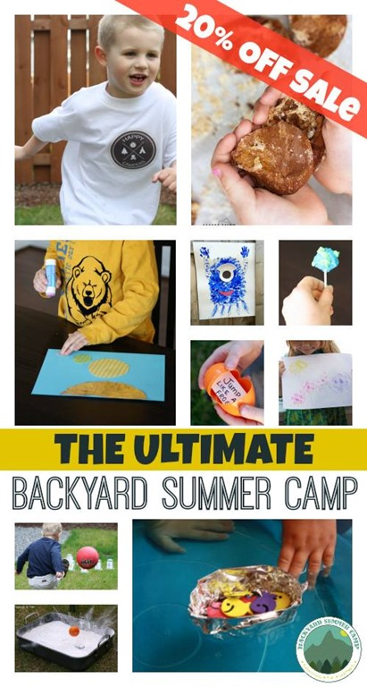 Ultimate Backyard Summer Camp - Summer Discount! | @mamamissblog #summercamp #imbored #backyardfun