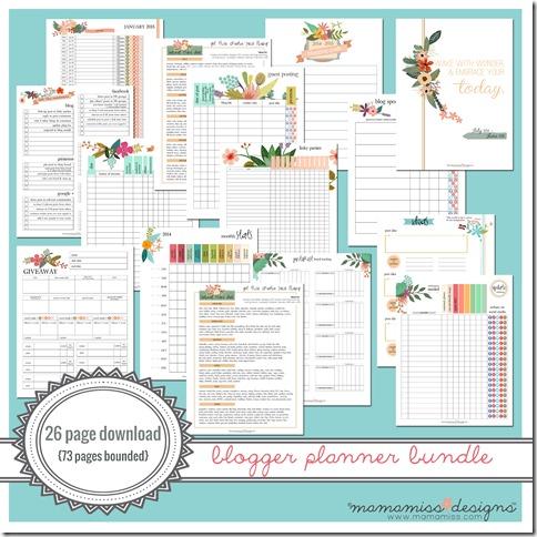2014-2015 MID YEAR Blogger Planner | @mamamissblog #bloggertools #organize #midyearplanner