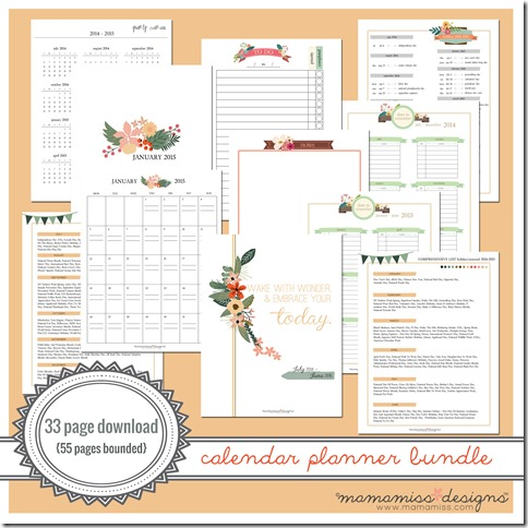 2014-2015 MID YEAR Calendar Planner | @mamamissblog #bloggertools #organize #midyearplanner