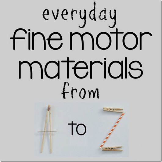 Everyday Fine Motor Materials from A to Z - Buttons | @mamamissblog #finemotor #buttons #playmatters