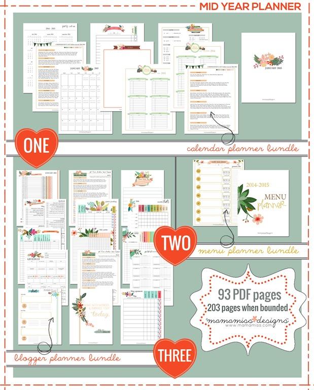 Mid Year Calendar : Mid year ger planner calendar and menu
