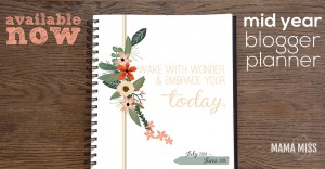 2014-2015 MID YEAR Blogger Planner, Calendar, and Menu Planner