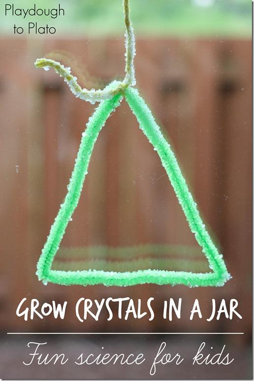 How to Grow Crystals in a Jar   @Playdough2Plato on @mamamissblog  #kidscience #preschoolscience