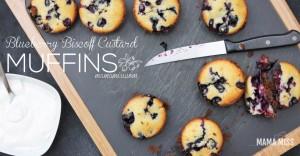 Blueberry Biscoff Custard Muffins   @mamamissblog #brunch #breakfast #muffinlove
