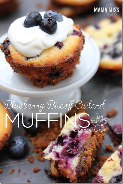 Blueberry Biscoff Custard Muffins | @mamamissblog #brunch #breakfast #muffinlove