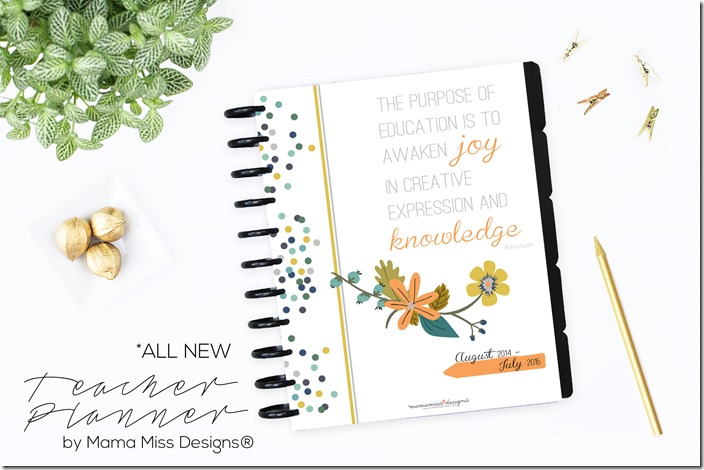 Teacher Planner | by Mama Miss Designs® @mamamissblog #classroom #organization #school