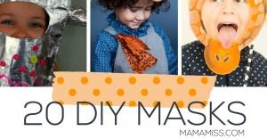 20 DIY Masks | @mamamissblog #diy #masks #kidscostumes #halloween