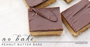 sweets: No Bake Peanut Butter Bars