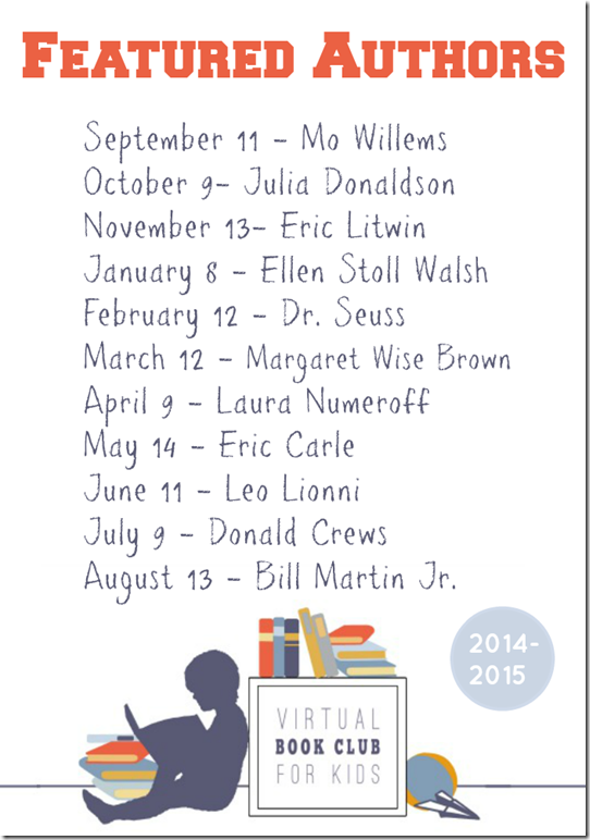 Virtual Book Club for Kids Featured Authors for 2014 2015