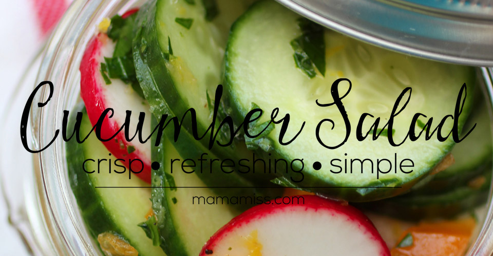 Cucumber Salad | @mamamissblog #salad #picnic #simplemeal