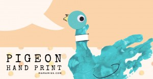 Inspired By Mo Williams – Pigeon Hand Print | @mamamissblog #VBC #literacyforlittles #bookandcraft #booksforkids