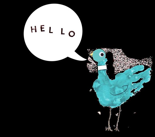 Inspired By Mo Willems – Pigeon Hand Print | @mamamissblog #vbcforkids #literacyforlittles #bookandcraft #booksforkids