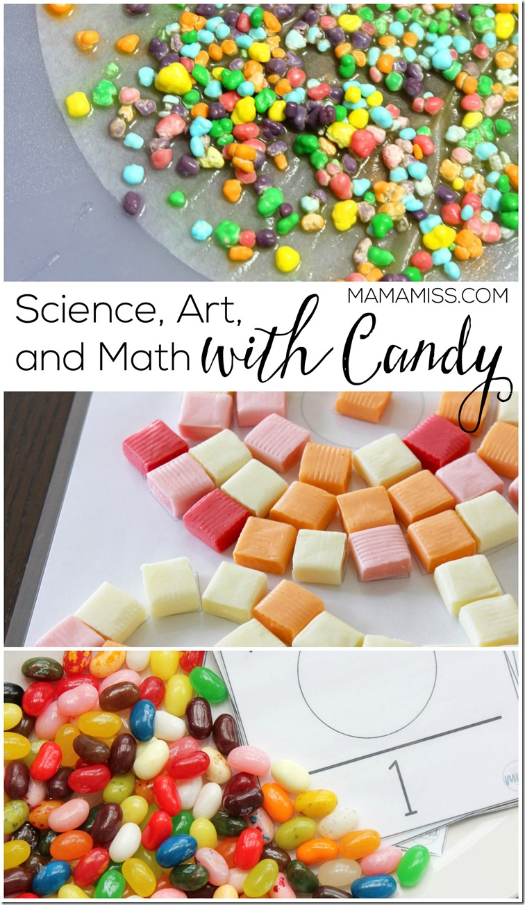 What to do with all that Halloween candy?!  Science, Art, and Math that's what!  Learning With Candy | @mamamissblog #halloween