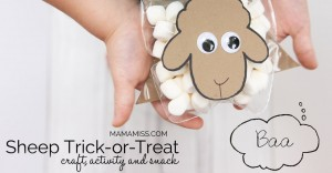 craft, activity, and snack: Sheep Trick or Treat