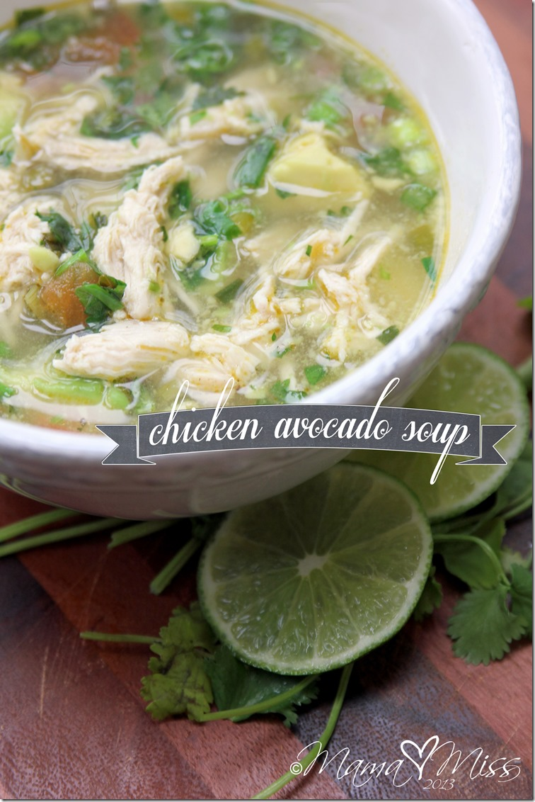 Chicken Avocado Soup - the perfect mouth-watering soup filled with ...