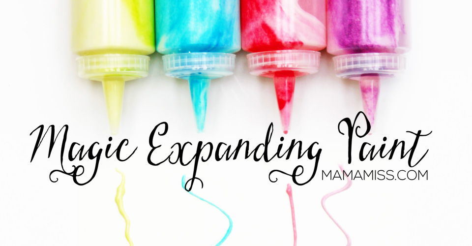 Magic Expanding Paint | @mamamissblog #screenfree #puffypaint