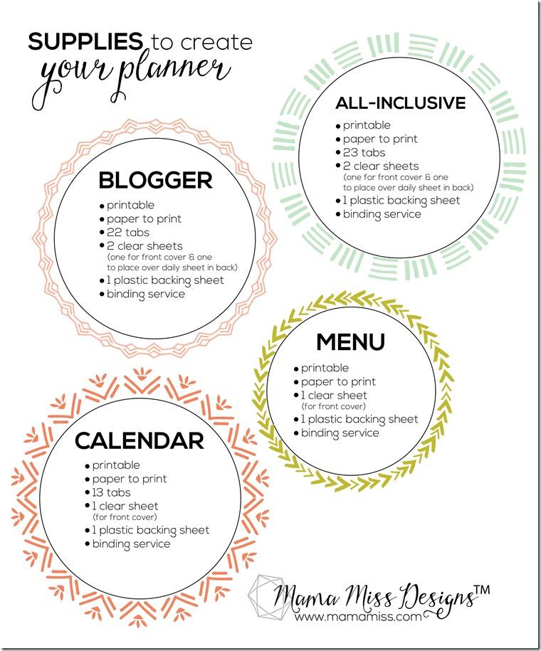 2015 Blogger Planner, Calendar, and Menu Planner - JUST RELEASED!!  @mamamissblog #blogplanner #2015calendar