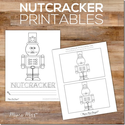 Celebrate the season with this SUPER SIMPLE Nutcracker & Ballerina kid-made craft with free printable | @mamamissblog  #nutcracker #freeprintable