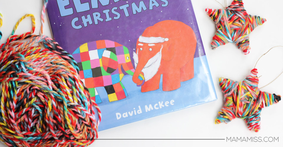Elmer Ornament - part of 10 Days of a Kid-Made Christmas - featuring 70+ ornaments inspired by children's books! | @mamamissblog #KidMadeChristmas