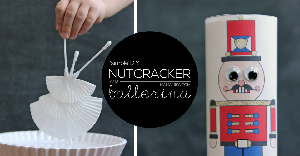 Celebrate the season with this SUPER SIMPLE Nutcracker & Ballerina kid-made craft with free printable | @mamamissblog #nutcracker #freeprintable
