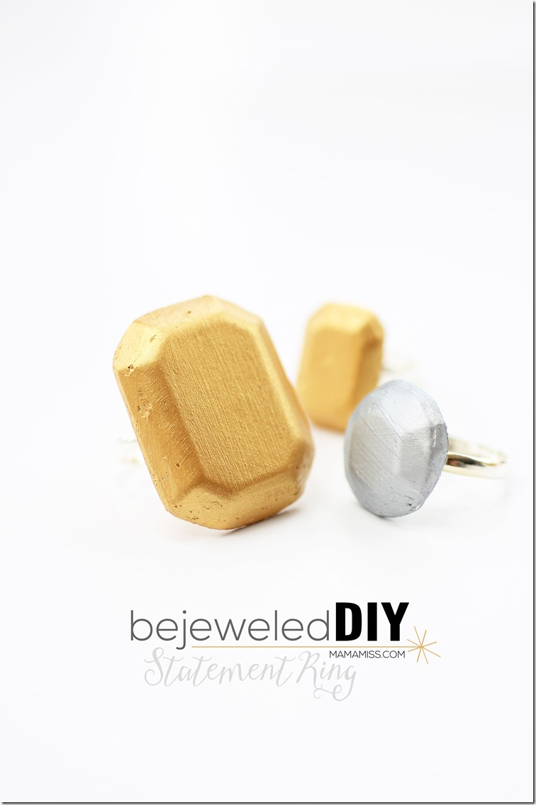 Bejeweled DIY Statement Ring - create your very own bling!  | @mamamissblog