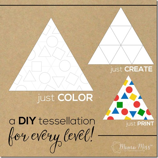 Inspired by Mouse Shapes - Create a Triangle Tessellation Puzzle | @mamamissblog ‪#‎vbcforkids‬ #bookactivities #freeprintable